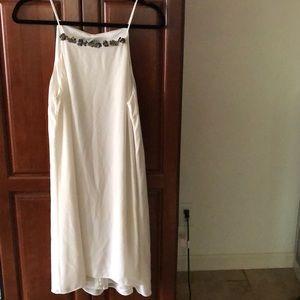 H&M White Chiffon Cocktail Dress